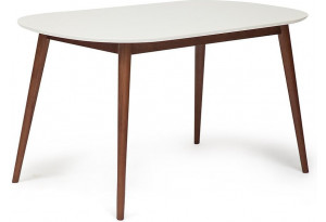 Стол обеденный Max белый / коричневый