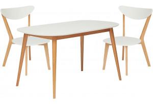 Обеденная группа Max белый / натуральный (2 стула)