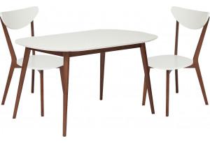 Обеденная группа Max белый / коричневый (2 стула)