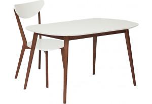 Обеденная группа Max белый / коричневый (1 стул)