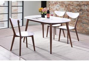 Обеденная группа Max белый / коричневый (3 стула)