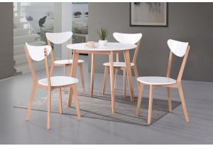 Обеденная группа Bosco белый / натуральный (4 стула)