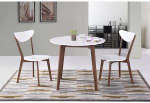 Обеденная группа Bosco белый / коричневый (2 стула)