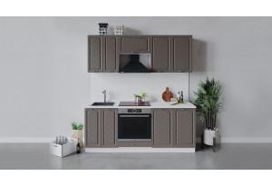 Кухонный гарнитур «Бьянка» длиной 200 см со шкафом НБ (Белый/Дуб серый)