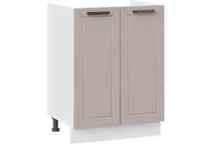 Шкаф напольный с двумя дверями (под накладную мойку) «Лорас» (Белый/Холст латте)
