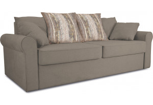 Диван «Шерри» Neo 04 (рогожка) светло-коричневый, подушки Tiffany wood (шинил) древесный