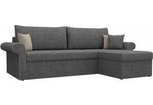 Угловой диван Милфорд Серый (Рогожка)