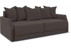 Диван «Люксор Slim» Galaxy 04 (велюр) темно-коричневый