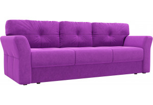 Диван прямой Манхеттен Фиолетовый (Микровельвет)