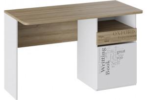 Стол с ящиками «Оксфорд» Ривьера/Белый с рисунком