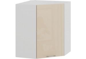Шкаф навесной угловой «Весна» (Белый/Ваниль глянец)