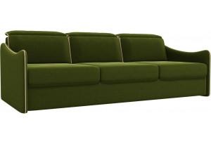 Диван прямой Скарлетт Зеленый (Микровельвет)