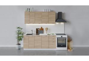 Кухонный гарнитур «Гранита» длиной 180 см (Белый/Дуб сонома)