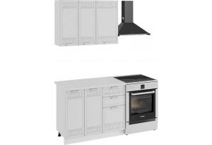 Кухонный гарнитур «Долорес» стандартный набор (Белый/Сноу)