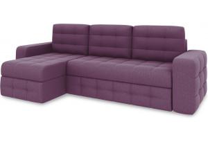 Диван угловой левый «Райс Т1» (Kolibri Violet (велюр) фиолетовый)