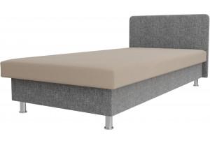 Кровать Мальта бежевый/Серый (Рогожка)
