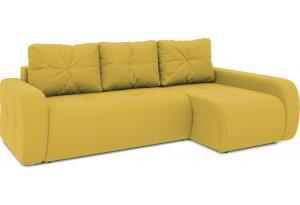 Диван угловой правый «Томас Т2» (Poseidon Curcuma (иск.замша) желтый)