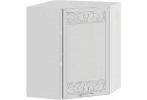 Шкаф навесной угловой «Долорес» (Белый/Сноу)
