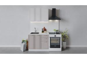 Кухонный гарнитур «Ольга» длиной 100 см (Белый/Белый/Кремовый)