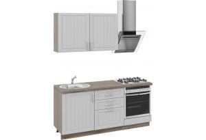 Кухонный гарнитур длиной - 180 см (со шкафом НБ) Дуб Сонома трюфель/Крем