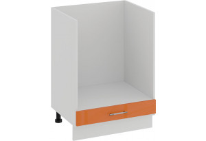Шкаф напольный под бытовую технику «Весна» (Белый/Оранж глянец)