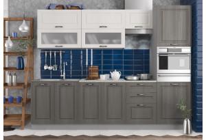 Кухня Капри 2,7 м Серый (модульная система)