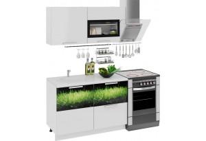 Кухонный гарнитур длиной - 180 см Фэнтези (Белый универс)/(Грасс)