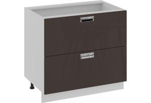 Шкаф напольный с 2-мя ящиками БЬЮТИ (Грэй) 900x582x822