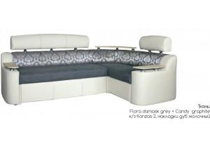 Угловой диван-кровать Рейн светлый