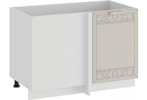 Шкаф напольный угловой «Долорес» (Белый/Крем)