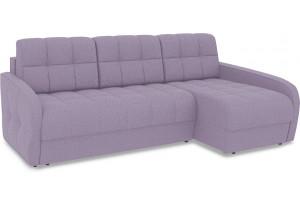 Диван угловой правый «Аспен Slim Т2» (Neo 09 (рогожка) фиолетовый)
