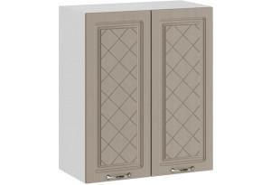 Шкаф навесной c двумя дверями «Бьянка» (Белый/Дуб кофе)