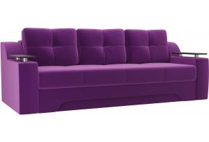 Диван прямой Сенатор Фиолетовый (Микровельвет)