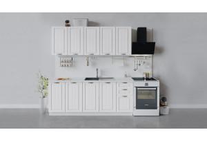Кухонный гарнитур «Лина» длиной 200 см (Белый/Белый)