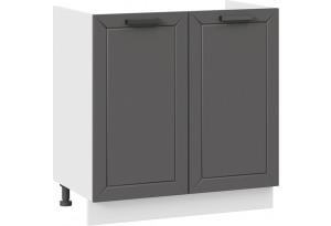 Шкаф напольный с двумя дверями (под накладную мойку) «Лорас» (Белый/Холст вулкан)