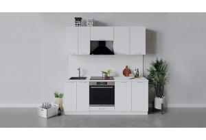 Кухонный гарнитур «Весна» длиной 200 см со шкафом НБ (Белый/Белый глянец)