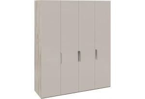 Шкаф комбинированный с 4 глухими дверями «Эмбер» (Баттл Рок/Серый глянец)