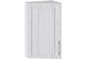 Шкаф навесной торцевой (ПРОВАНС (Белый глянец/Санторини светлый))