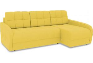 Диван угловой правый «Аспен Slim Т2» (Neo 08 (рогожка) желтый)