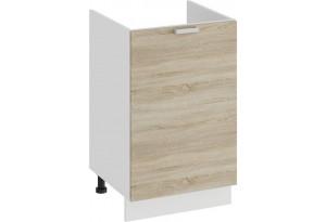Шкаф напольный с одной дверями (под накладную мойку) «Гранита» (Белый/Дуб сонома)