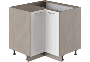 Шкаф напольный угловой с углом 90° (ОДРИ (Белый софт))