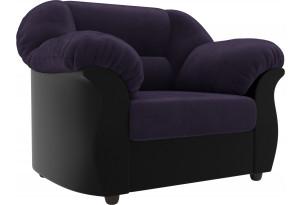 Кресло Карнелла Фиолетовый/Черный (Велюр/Экокожа)