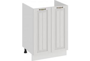Шкаф напольный с двумя дверями (под накладную мойку) «Лина» (Белый/Белый)