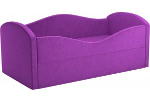 Детская кровать Сказка Фиолетовый (Микровельвет)