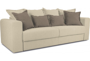 Диван «Раймонд» Neo 02 (рогожка) бежевый, подушка Neo 04 (рогожка) светло-коричневый