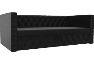 Детская кровать Таранто Черный (Экокожа)
