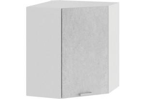 Шкаф навесной угловой «Гранита» (Белый/Бетон снежный)
