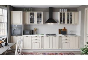 Кухонный гарнитур «Лина» №1 (Белый/Крем)