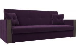 Прямой диван книжка Валенсия Фиолетовый (Велюр)