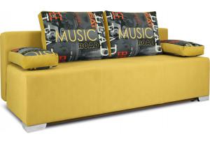 Диван «Дерби» Maserati 11 (велюр) желтый, подушка Urban (велюр) Music